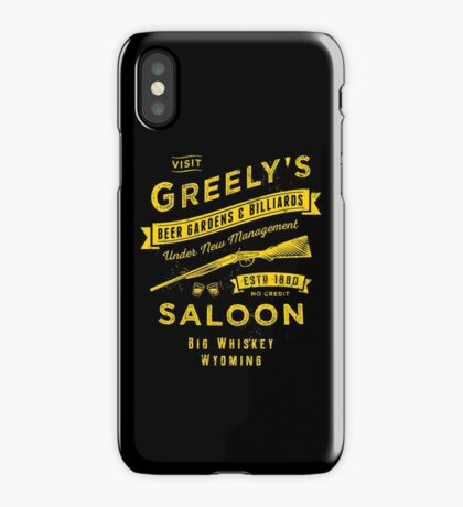 Greely's Saloon iPhone Case/Skin