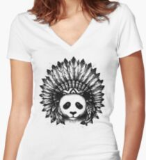 Mixed Identity Women's Fitted V-Neck T-Shirt