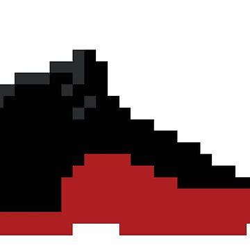 8-bit Jordan 12s - Alternate by soujohn