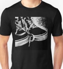 Scratchboard Hightop Shoes Unisex T-Shirt