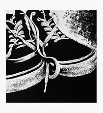 Scratchboard Hightop Shoes Photographic Print