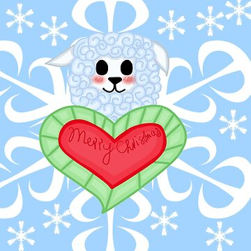 Kawaii Christmas Alpaca by mikistarlight