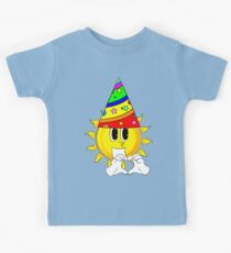 Cartoon Sun with Heart Shape Hand Gesture Kids Clothes