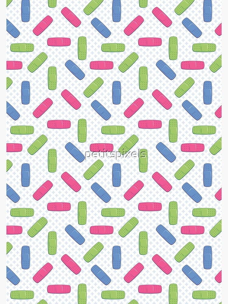 Pink, green and blue bandages by petitspixels