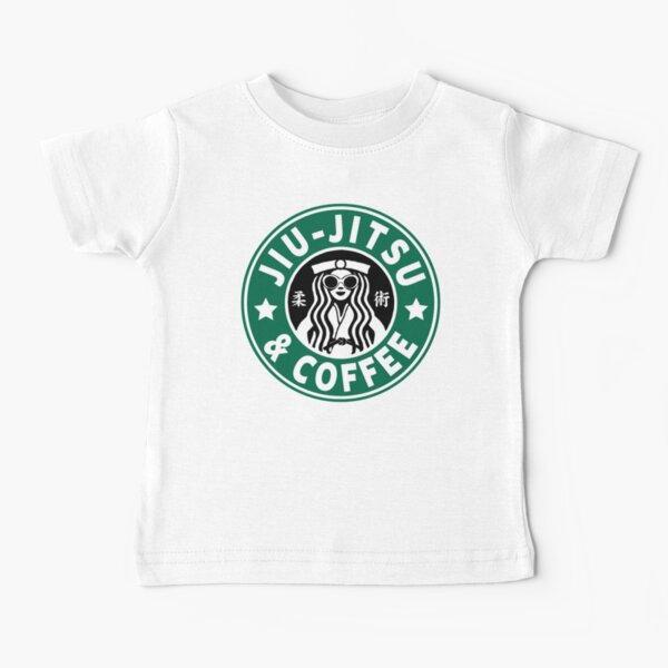 JIU JITSU Y CAFÉ - FUNNY BRAZILIAN JIU JITSU Camiseta para bebés