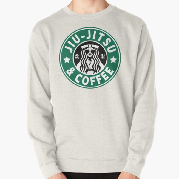 JIU JITSU AND COFFEE - FUNNY BRAZILIAN JIU JITSU Pullover Sweatshirt