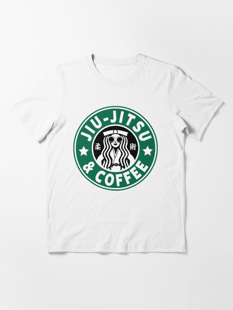 Alternate view of JIU JITSU AND COFFEE - FUNNY BRAZILIAN JIU JITSU Essential T-Shirt