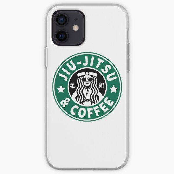 JIU JITSU AND COFFEE - FUNNY BRAZILIAN JIU JITSU iPhone Soft Case