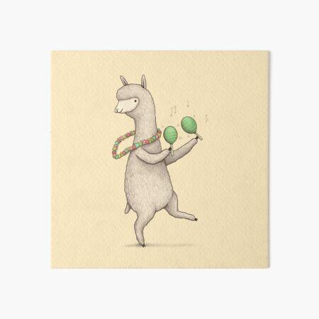 Alpaca on Maracas Art Board Print