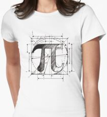Pi Symbol Sketch Women's Fitted T-Shirt