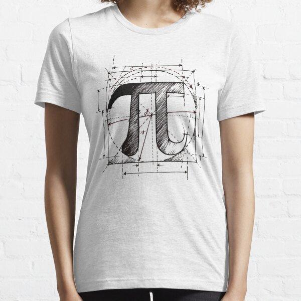 Pi Symbol Sketch Essential T-Shirt