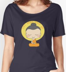 Let that shit go smiling Buddha Monk Women's Relaxed Fit T-Shirt