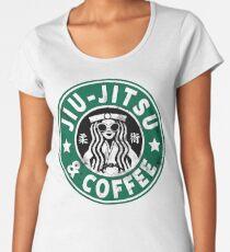 JIU JITSU AND COFFEE - FUNNY BRAZILIAN JIU JITSU Women's Premium T-Shirt