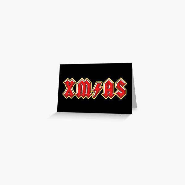 XM/AS (3D) - Cool Rock Music Christmas Design Greeting Card
