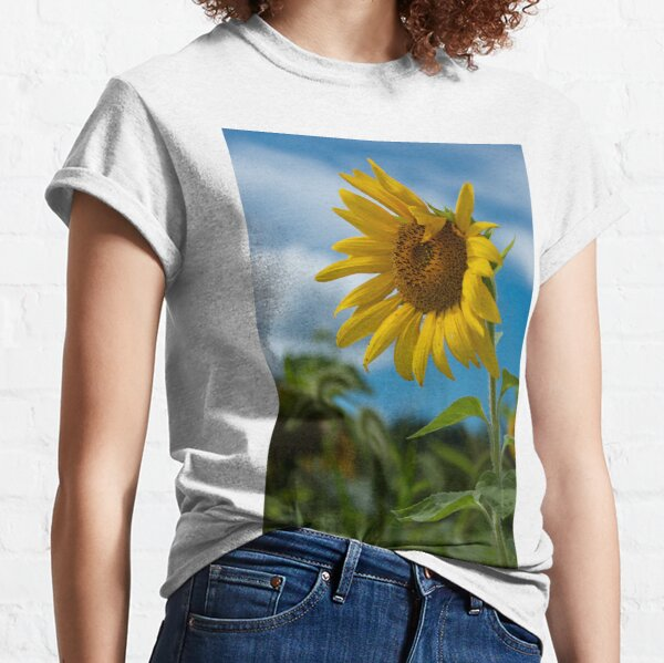 Sunflower and Blue Skies Classic T-Shirt