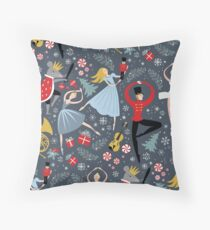 Clara's Nutcracker Ballet repeat by Robin Pickens Throw Pillow