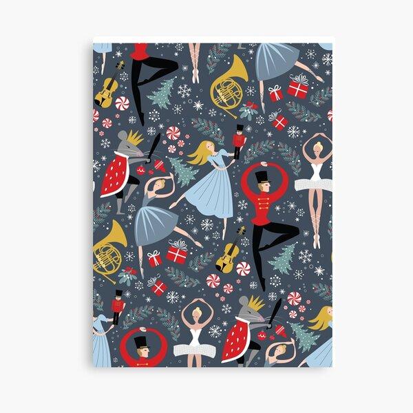 Clara's Nutcracker Ballet repeat by Robin Pickens Canvas Print