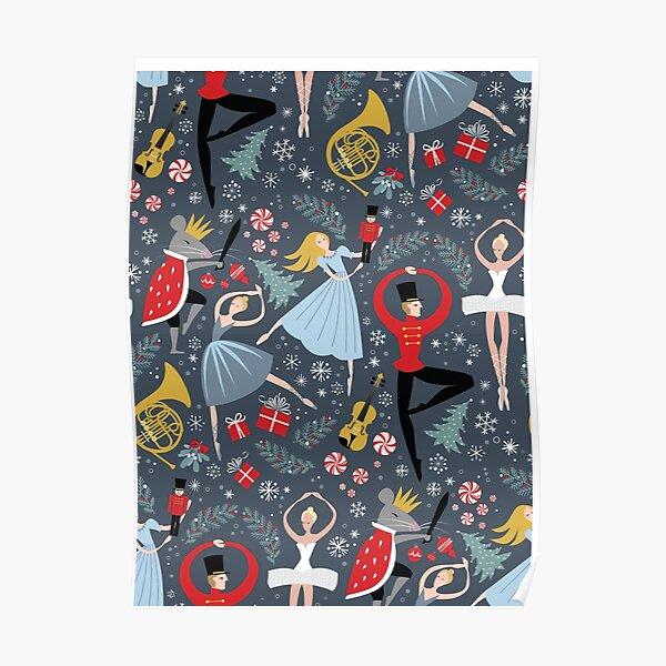 Clara's Nutcracker Ballet repeat by Robin Pickens Poster