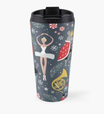 Clara's Nutcracker Ballet repeat by Robin Pickens Travel Mug