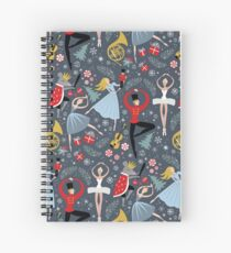 Clara's Nutcracker Ballet repeat by Robin Pickens Spiral Notebook