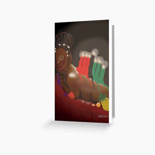 Kinara for Kwanzaa Greeting Card