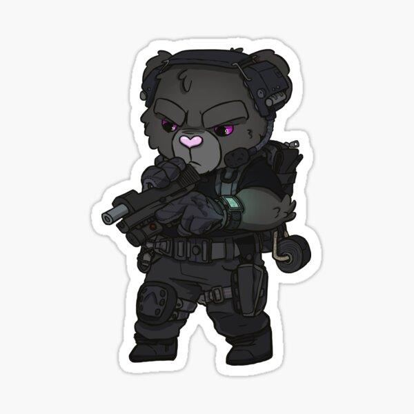 Black Stallion Teddy Sticker