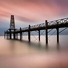 Wooden Pier at Dawn by Dave Hare