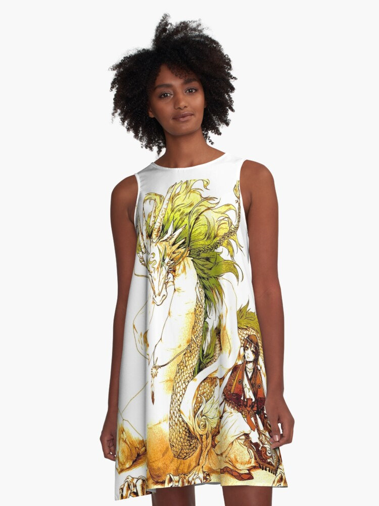 A Love Story Between Chihiro and The Dragon A-Line Dress Front