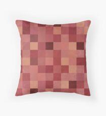 Mosaic 1492 - Pantone Marsala Squares Throw Pillow