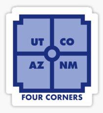 Four Corners - Blue Sticker