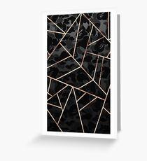 black geometri Greeting Card
