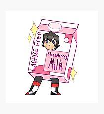 Keith strawberry milk  Photographic Print