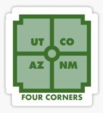 Four Corners - Green Sticker