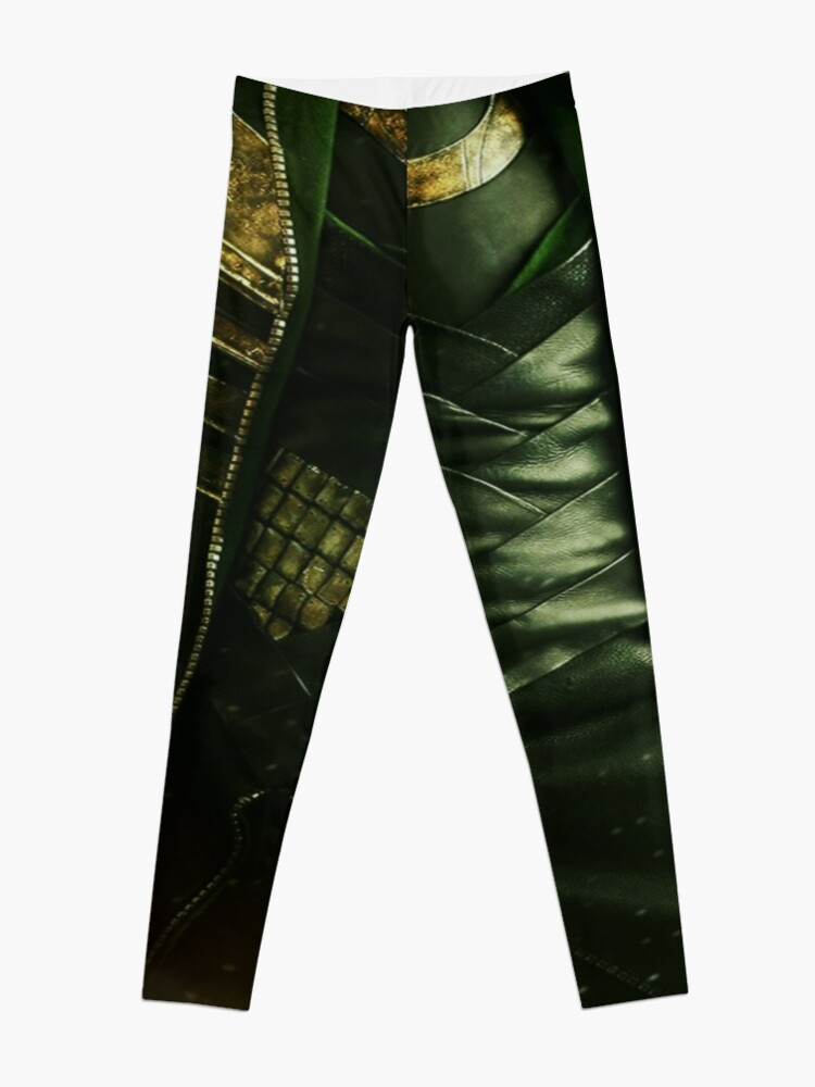 Alternate view of It's tricky, looking good in green Leggings