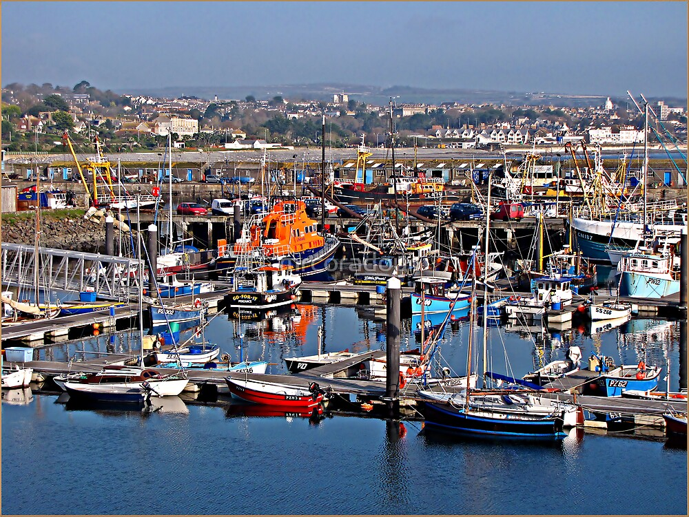 Newlyn Harbour. by Malcolm Chant