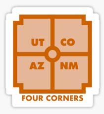 Four Corners - Orange Sticker