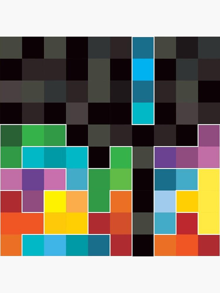 Mosaic 1494 - Tetris Mosaic by carlhuber