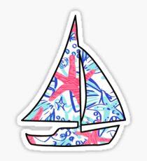 Sailboat Sticker Lilly Pulitzer Inspired Print Sticker