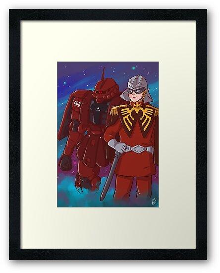 char aznable framed print by ciajka redbubble