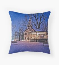 New England in December Throw Pillow