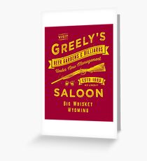 Greely's Saloon Greeting Card