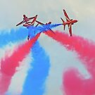 The Red Arrows At Flying Legends 3 by Colin  Williams Photography