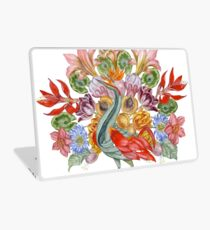 Botanical Watercolor Peacock  Laptop Skin