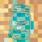 Mosaic 1498 - Mason Jar Ball Jar Hipster by Carl Huber