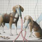 Earthlings - Beagles by janelewisartist