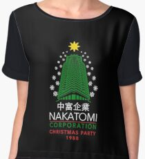 Nakatomi Corporation Christmas Party Snowflake Tower Women's Chiffon Top