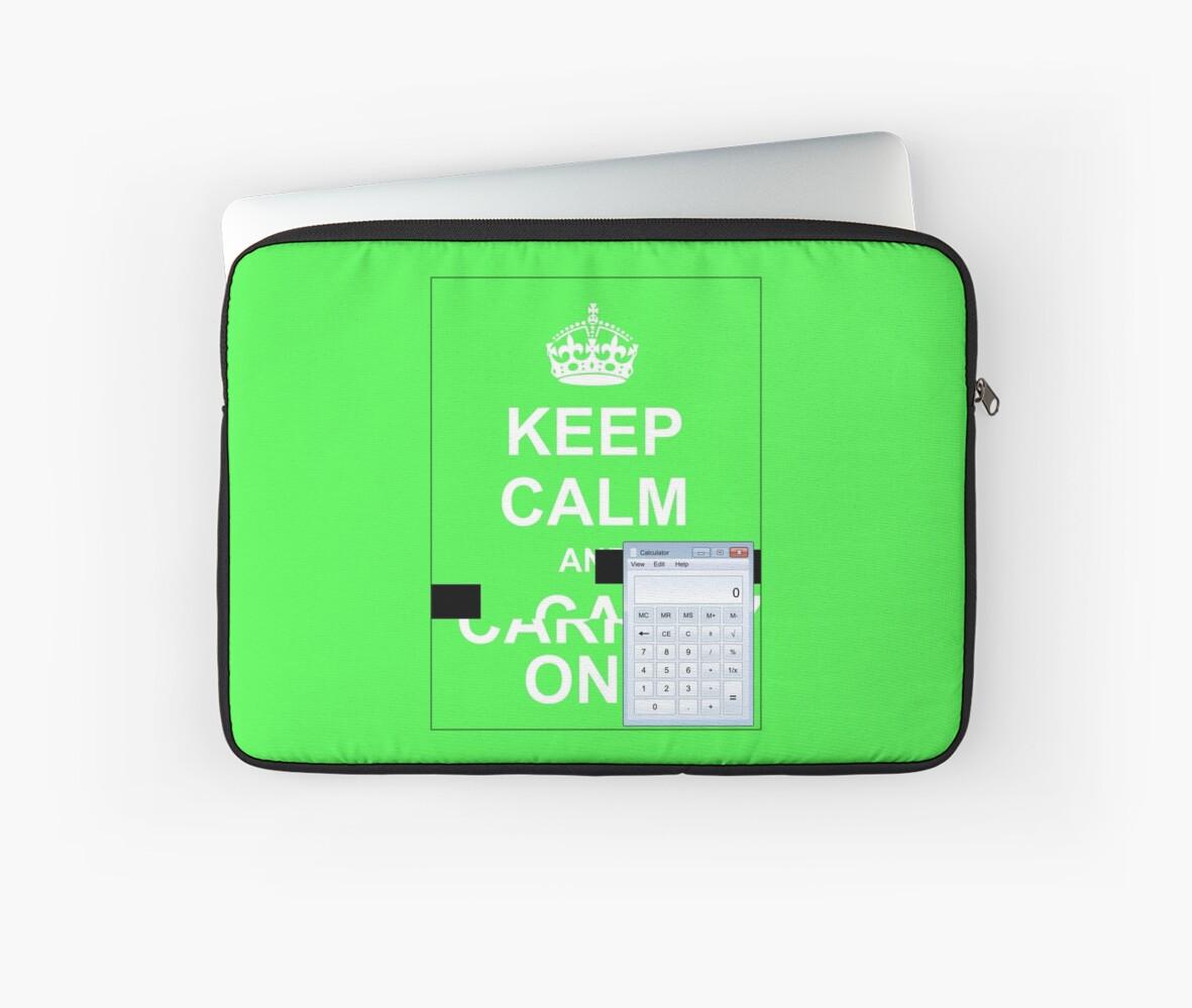 Custom laptop sleeve by Ange Albertini