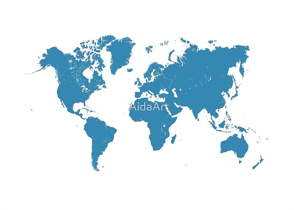 blue maps by AidaArt