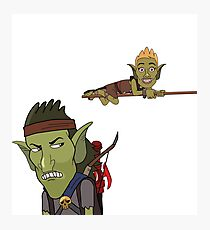 HarmonQuest: Boneweevil and Chip Photographic Print