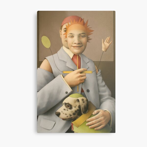 The Puppet Master and his Automaton Dog Metal Print